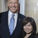US Vice President Joe Biden and Fionna Lau